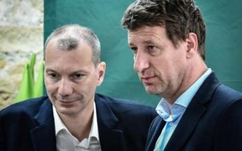 David Corman et Yannick Jadot