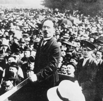 Liebknecht spricht in Treptow 1911