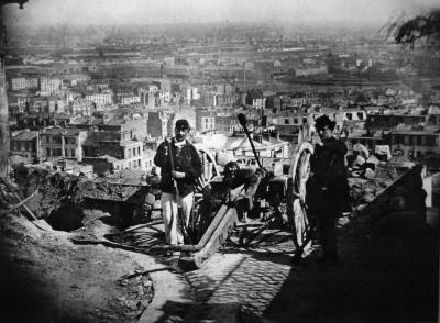 Barricade rue de la Bonne Montmartre Commune Paris 1871