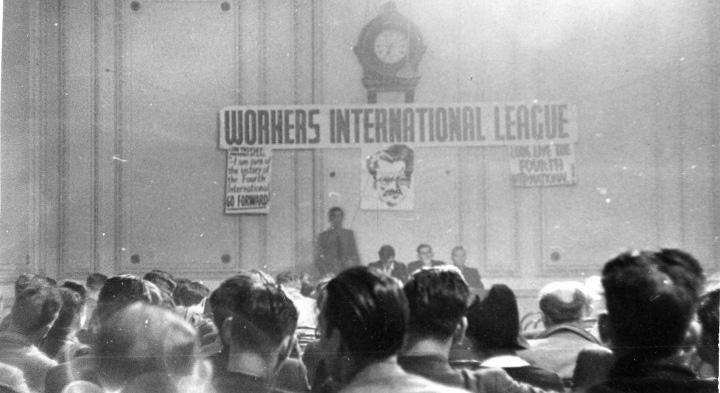 Meeting d'hommage de la WIL à Trotsky en 1942
