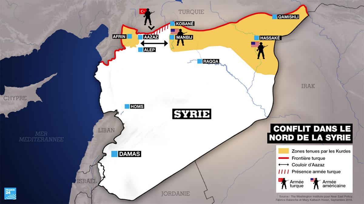 Les forces turques à 4 km d'Afrin — Syrie