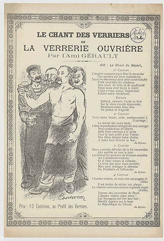 Chanson chant des verriers de la verrerie ouvrière par lAmi Gérault 1 Archives Nationales 14AS 132