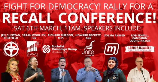 Recall conference rally poster