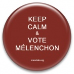 Keep Calm & vote Mélenchon - Grand badge